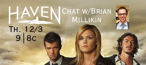 Live Chat with Brian Millikin – Thurs., Dec. 3rd at 9|8c